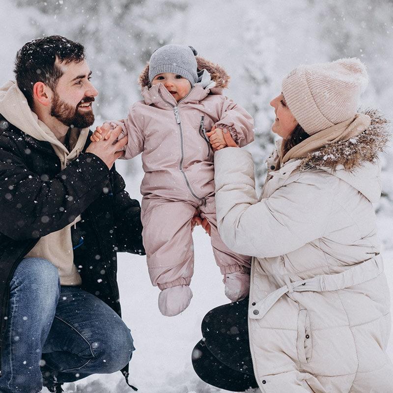 Planes en invierno con niños